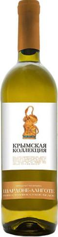 Вино Шардоне-Алиготе столовое белое сухое серии