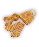 Вязаный комплект - Меланж желтый. Одежда для кукол, пупсов и мягких игрушек.