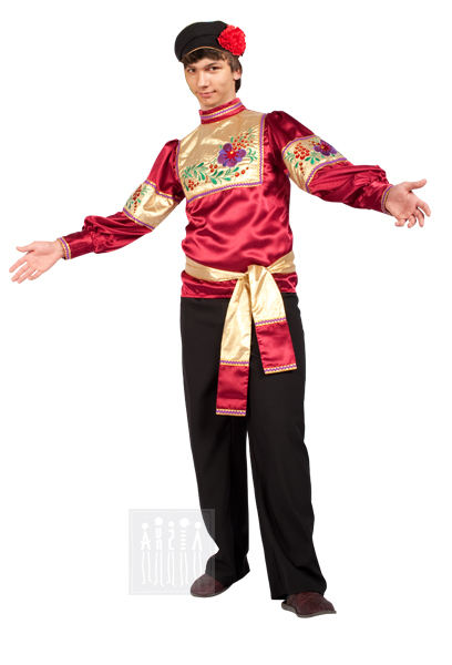 Народный костюм гармониста для взрослых. Купить в Интернет-магазине Мастерская Ангел-Карнавальные костюмы. Доставка по Москве, Санкт-Петербургу, России.