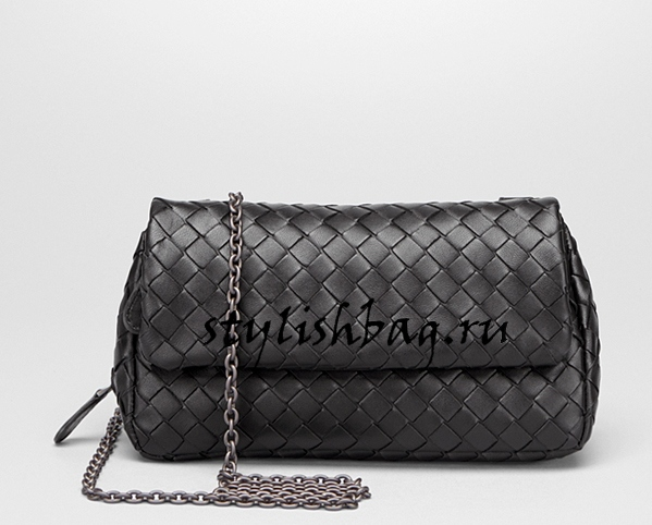28be19535459 Женская сумка Bottega Veneta Nero intrecciato nappa mini bag black класса  люкс