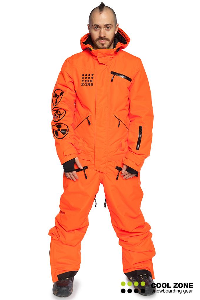 46bbff1b Мужской сноубордический комбинезон Cool Zone Acid 3617 оранжевый ...