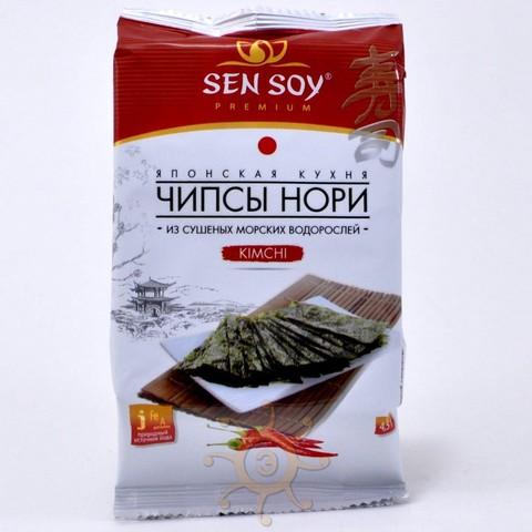 Чипсы нори из морской капусты Kimchi Sen Soy, 4,5г