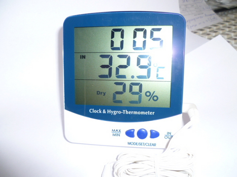Цифровой измеритель влажности и температуры с часами. Модель SH-110