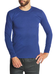 30570-6 футболка мужская дл. рукав, синяя