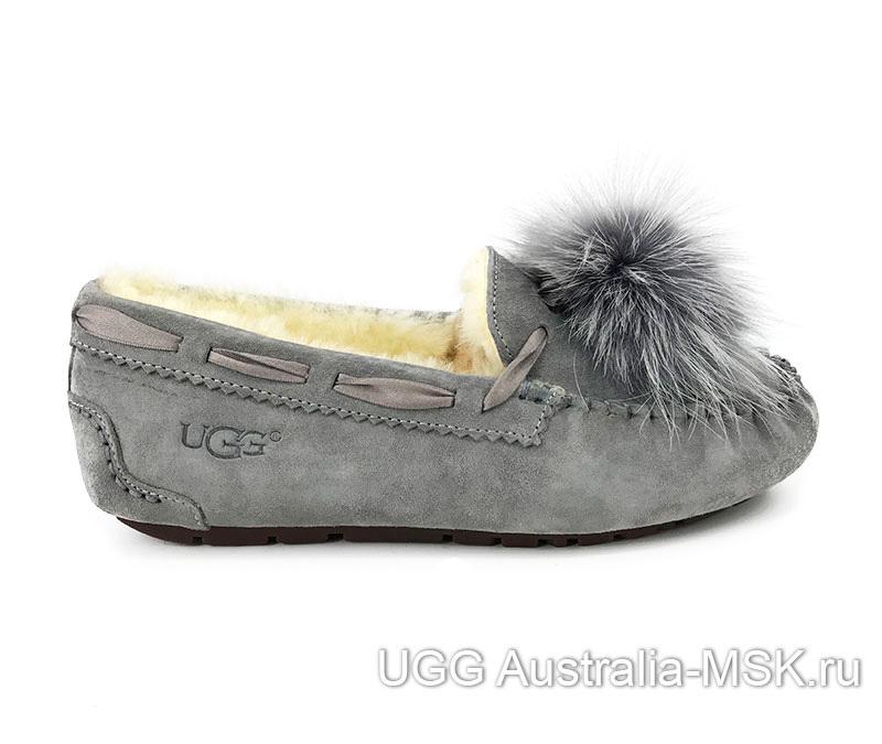 UGG Moccasins Pom Pom Grey
