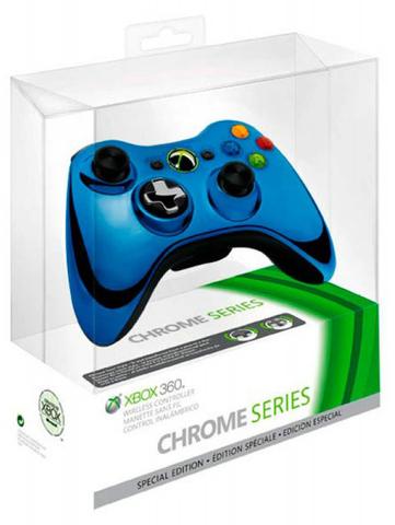 Xbox 360 Проводной контроллер (копия, Chrome Blue)