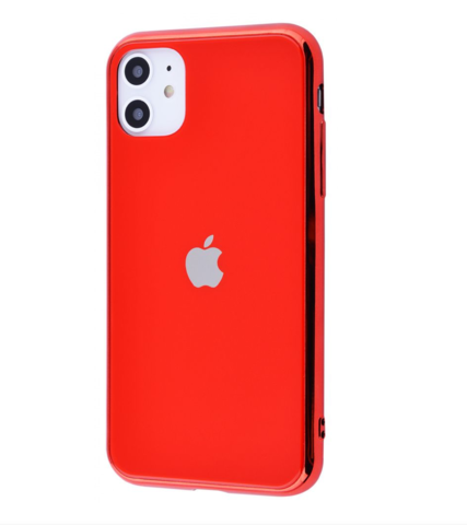 Чехол iPhone 11 Glass Case Logo /red/