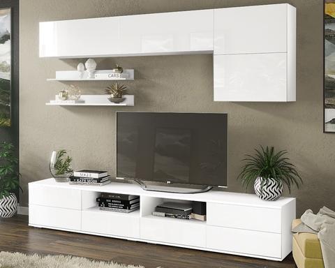 Гостиная ЛИЯ-2 белый / белый глянец