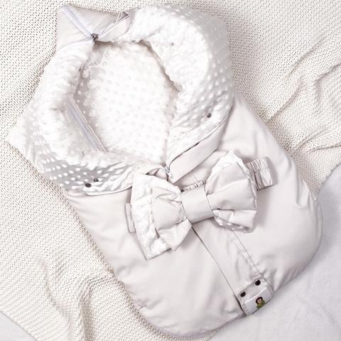 СуперМамкет. Конверт-одеяло всесезонное Мультикокон ®, Soft, кремовый