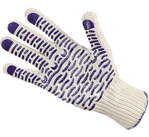 Перчатки рабочие ПВХ волна 10 класс (Упаковка 10 шт)