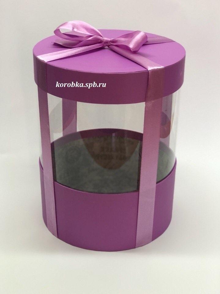 Коробка аквариум 22,5 см Цвет : Лиловый  . Розница 400 рублей .