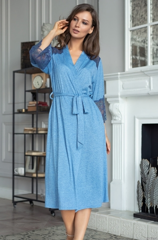 Элегантный длинный халат Mia Amore 6819