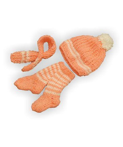 Вязаный комплект - Розовый. Одежда для кукол, пупсов и мягких игрушек.