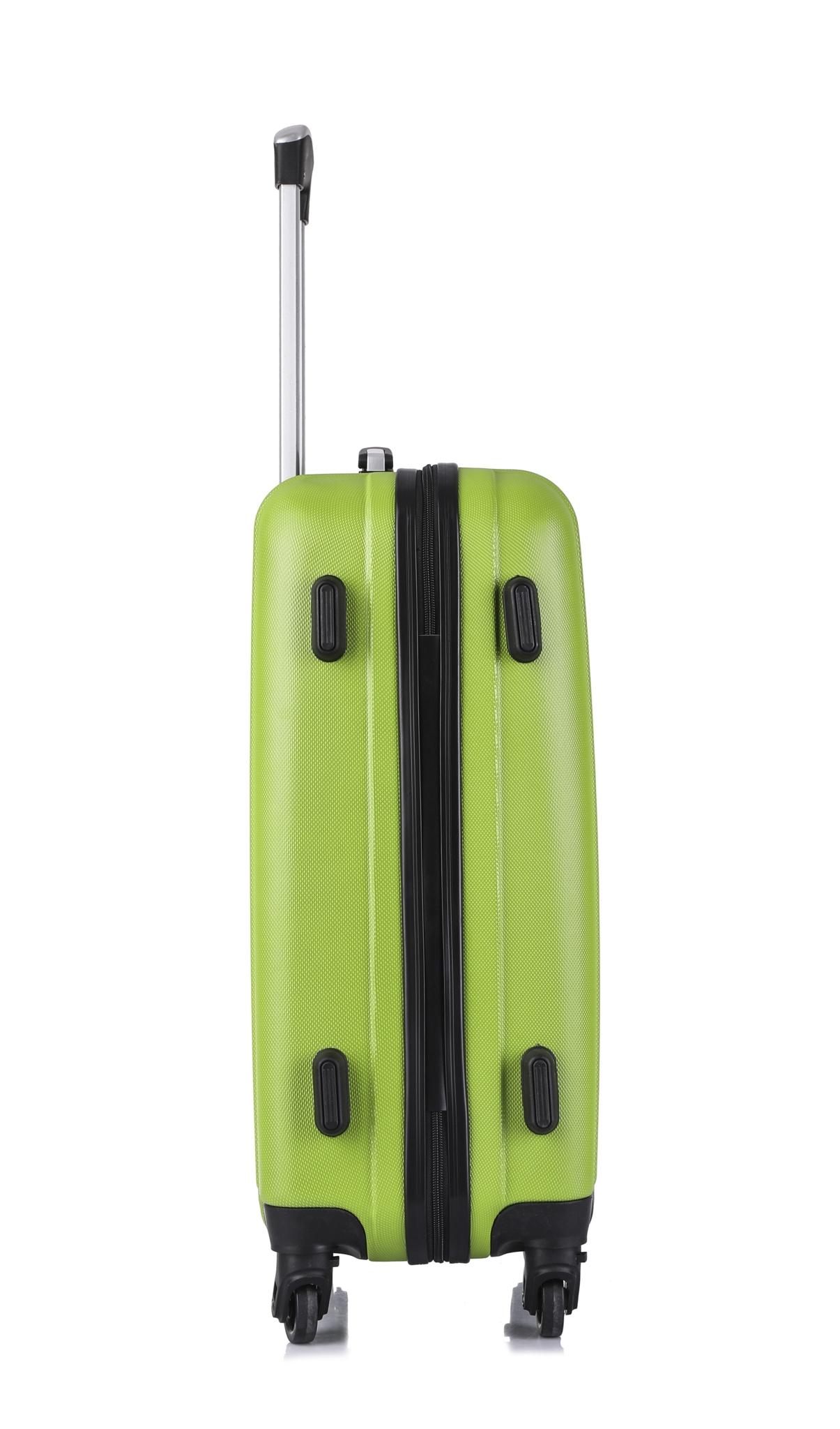 Чемодан со съемными колесами L'case Krabi-22 Зеленый (M)