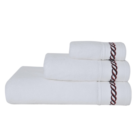 Полотенце 50x100 Casual Avenue Messina белое с цветным