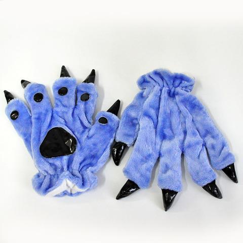 Перчатки кигуруми синие