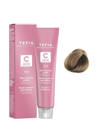 Крем-краска для волос с маслом монои 8.00 светлый блондин интенсивный 60 мл COLOR CREATS Tefia