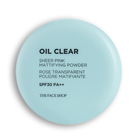 THE FACE SHOP Oil Clear Sheer Pink Mattifying Powder SPF30 PA++, 9 gr