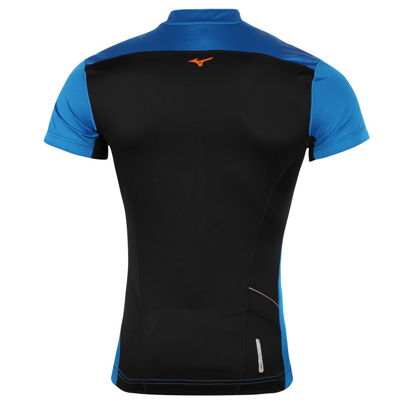 Мужская беговая футболка Mizuno DryLite Hex Tee (J2GA4007 22) синяя фото