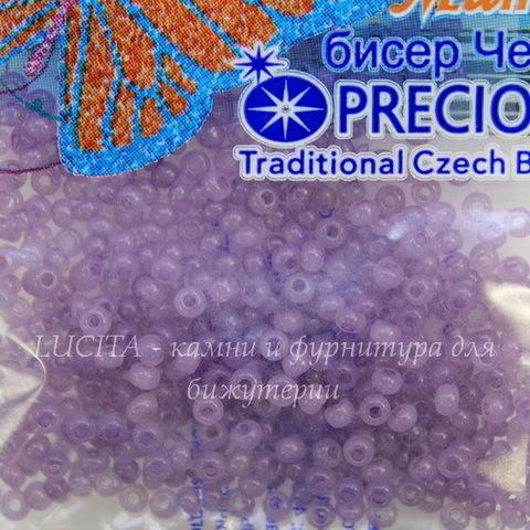 02122 Бисер 10/0 Preciosa Алебастр Соль-гель сиреневый