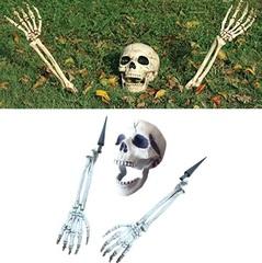 Ужасы бутафория череп и кости рук