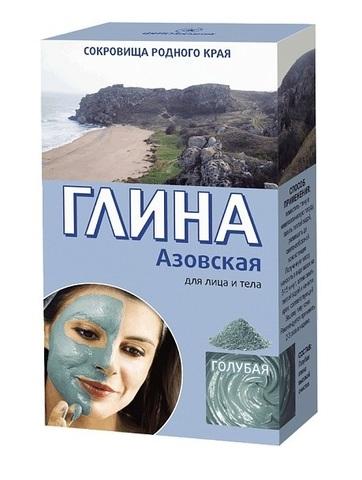 Фитокосметик Сокровища родного края Глина голубая Азовская 100г