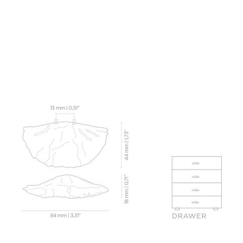 Мебельная ручка PullCast FUNGI EA1035
