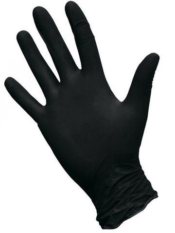 Перчатки нитриловые Черные р. L (100 штук - 50 пар)