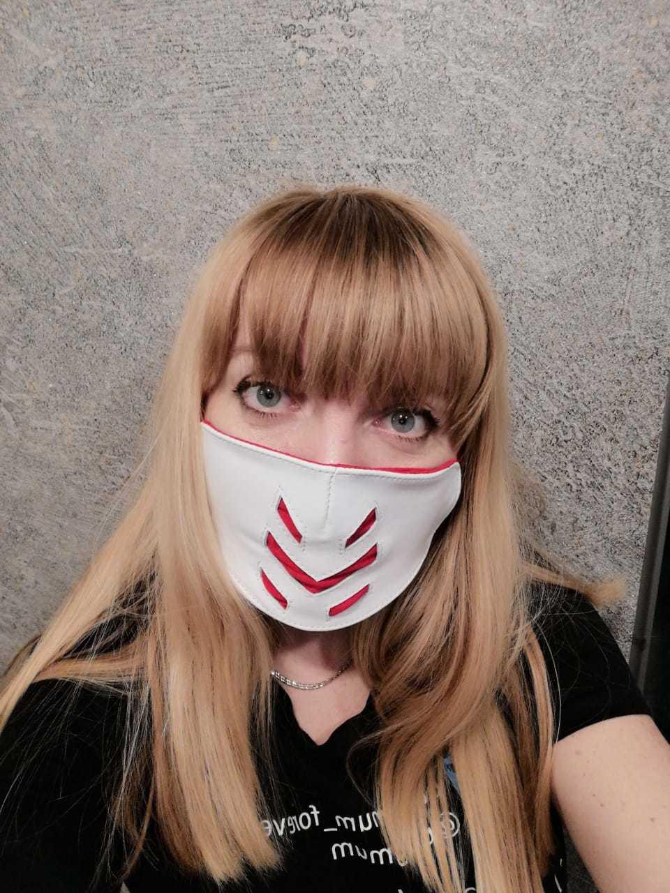 Стильная многоразовая кожаная маска