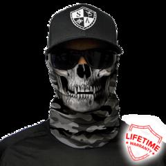 Бандана-труба с черепом SA Grey Military Skull