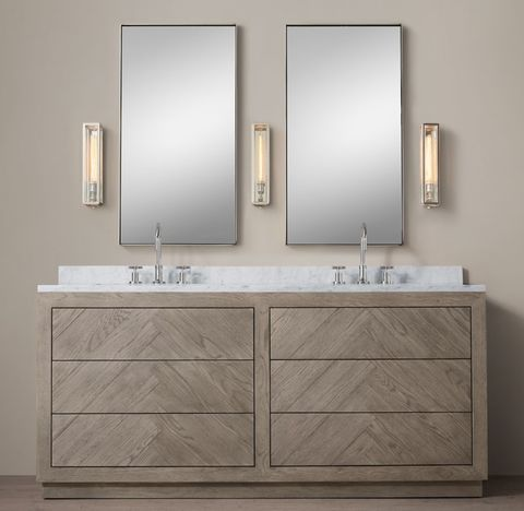 Herringbone Double Vanity