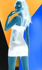 Моделирующее нижнее платье с кружевом на боках Maxime экрю