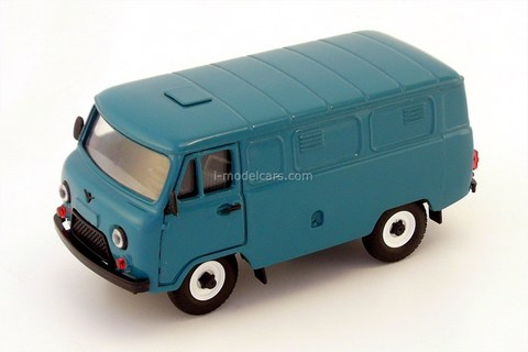 UAZ-3741 van (plastic painted) blue-green 1:43 Agat Mossar Tantal