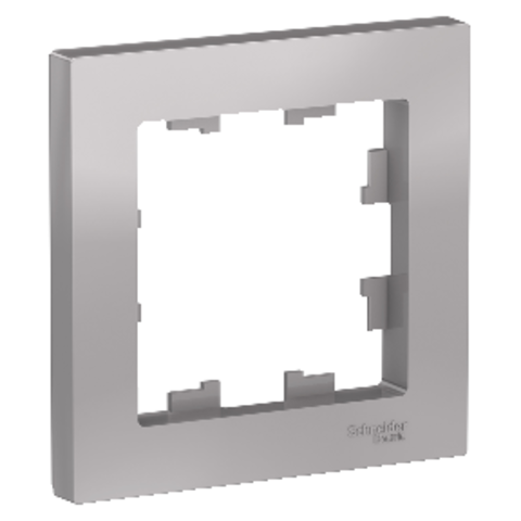 Рамка на 1 пост. Цвет Алюминий. Schneider Electric AtlasDesign. ATN000301