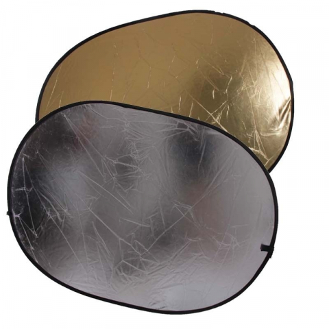 Fotokvant R2-90120GS светоотражатель золото-серебро размером  91х122 см