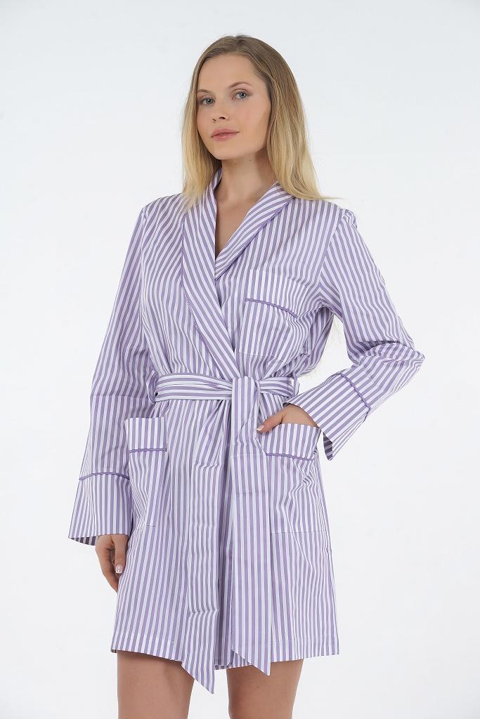 Лиловый халат в полоску B&B (Женские халаты)