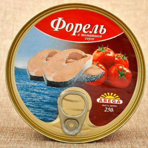 Форель в томатном соусе, Арега, 250г