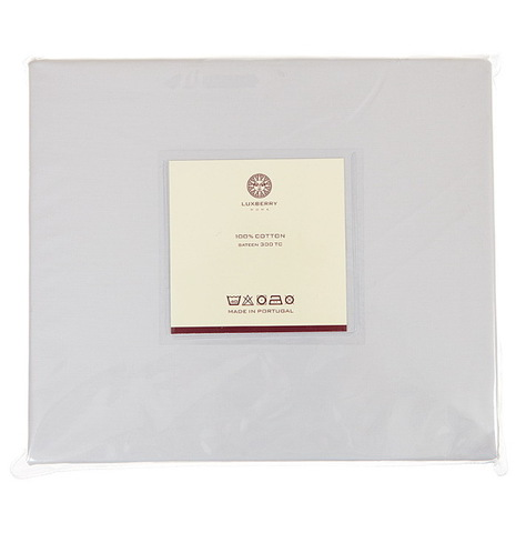 Простыня прямая Luxberry сатин серый жемчуг