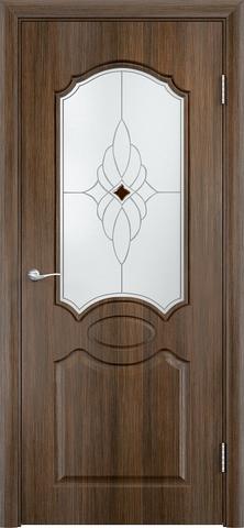 Дверь Верда Афина, стекло Сатинато Ромб, цвет венге мелинга, остекленная