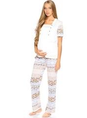 Евромама. Пижама футболка и брюки 1408, орнамент 42
