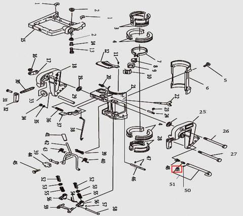 Фиксатор для лодочного мотора T9.8 Sea-PRO (11-49)