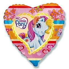 Шар фольга сердце Пони