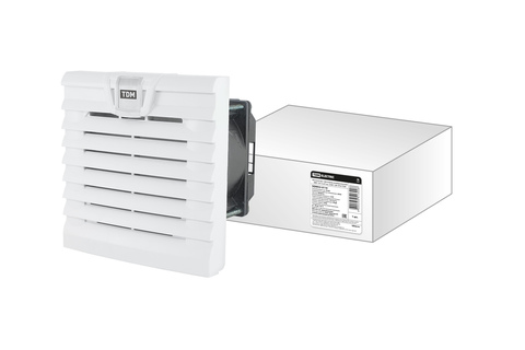 Вентилятор с фильтром универсальный ВФУ 19/13 м3/час 230В 12Вт IP54 TDM