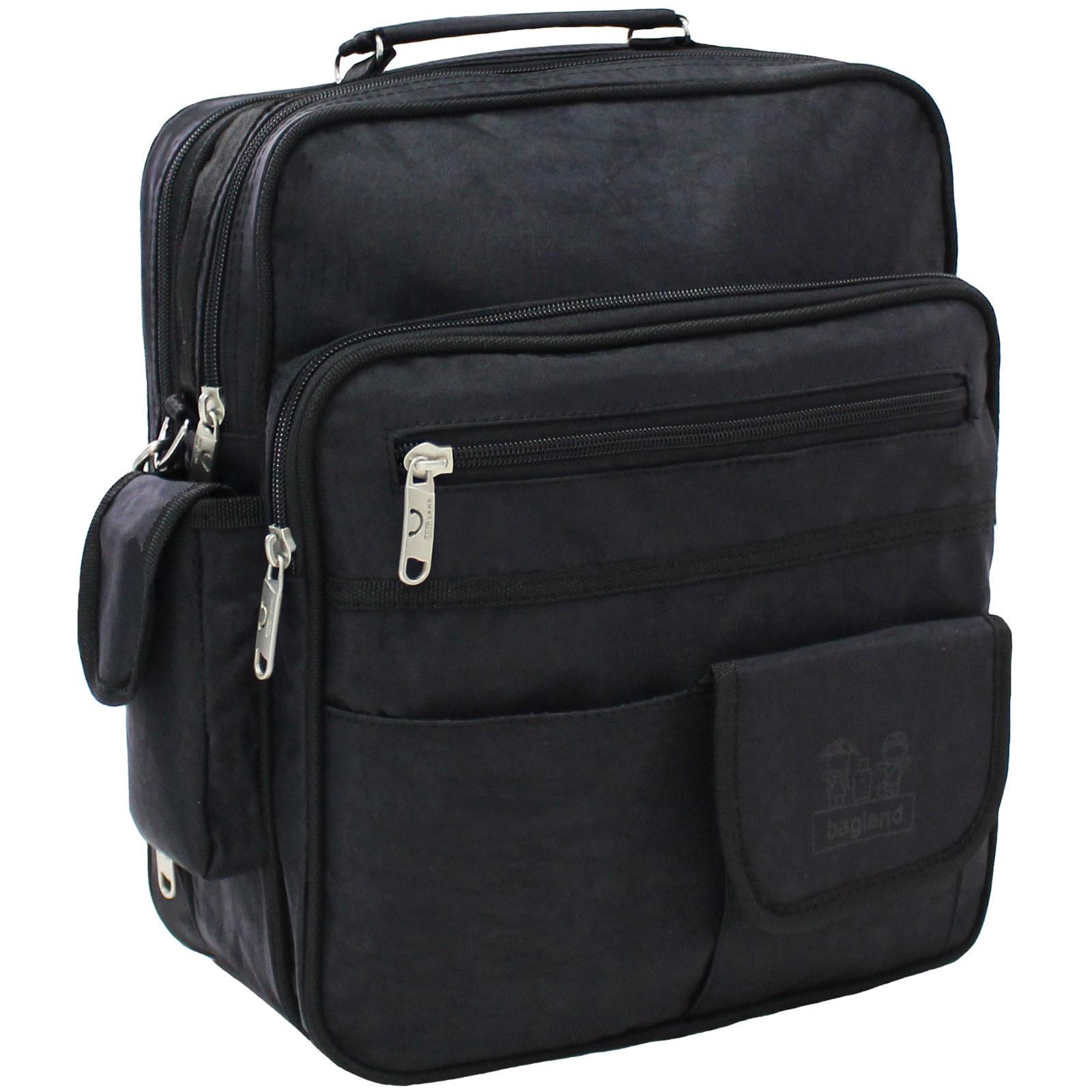 Сумки через плечо Мужская сумка Bagland Комерсант 11 л. Чёрный (0023870) IMG_6182.JPG