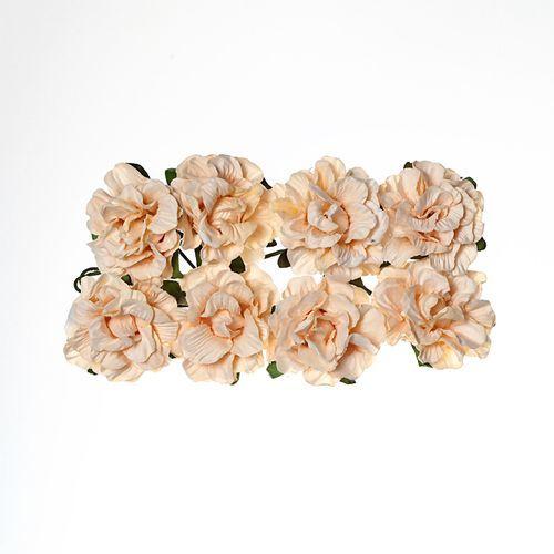 Розы кудрявые из бумаги 8 шт, 2 см.