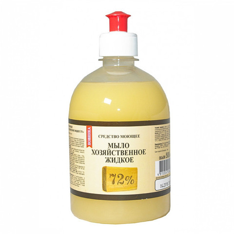 Рябина Средство моющее Мыло хозяйственное жидкое 72% 500 мл