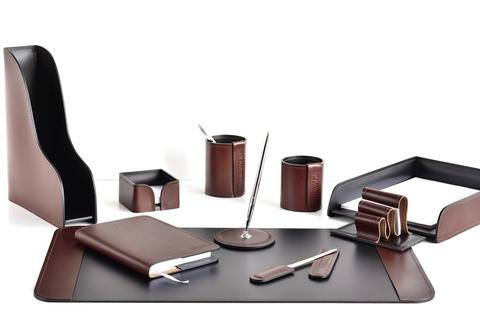 Набор руководителя 10 предметов из кожи Full Grain Bologna Brown/Cuoietto