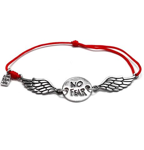 No fear wings bracelet, bracelet for men, for women, sterling silver