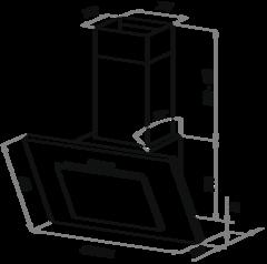 Вытяжка Maunfeld Tower C 50 чёрный - схема