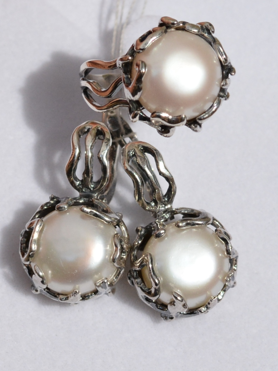 Мюли (кольцо + серьги из серебра)